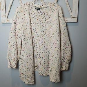 CONFETTI chunky cardigan sweater M/L